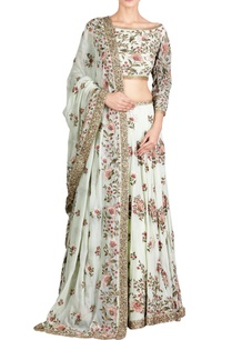 mint-green-chiffon-floral-embroidered-lehenga-set