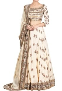beige-chiffon-boota-embroidered-lehenga-set