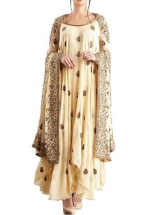 yellow-chiffon-boota-embroidered-kurta-set