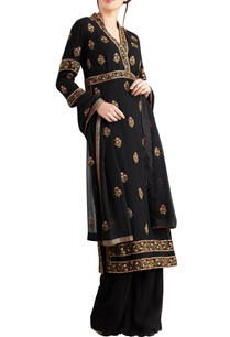 black-chiffon-boota-embroidered-sharara-set