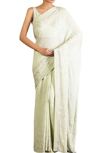 mint-green-lucknowi-threadwork-chiffon-sari-with-blouse