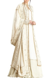 off-white-gold-lucknowi-thread-embroidered-bead-work-jacket-set