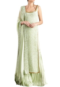 mint-green-sequin-kachra-bead-embellished-chiffon-kurta-set