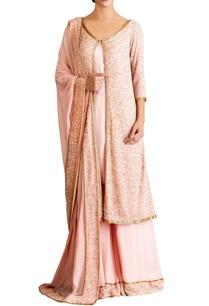 pastel-pink-chiffon-kurta-set