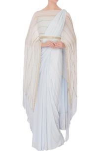 ice-blue-gold-motif-sari-with-cape