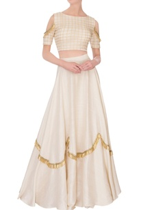 cream-flared-lehenga-with-cold-shoulder-blouse