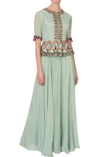 ice-green-chiffon-embroidered-peplum-dress