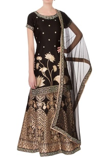 black-satin-silk-printed-zircon-work-sharara-set