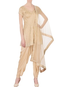 beige-satin-silk-printed-zircon-work-dhoti-set