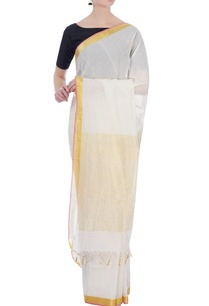 cream-gold-handloom-pure-cotton-tissue-sari-with-unstitched-blouse-fabric