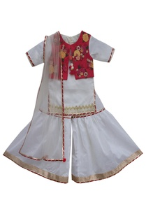 white-red-chanderi-embroidered-sharara-set