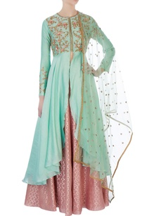 mint-green-anarkali-set