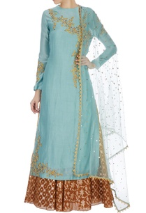 mint-blue-chanderi-sequin-kurta-set