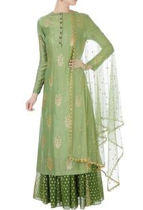 green-sequin-kurta-with-skirt-net-dupatta