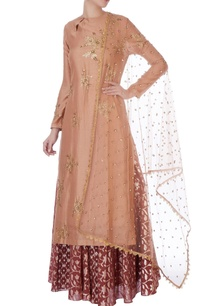 brown-pink-sequin-jacket-lehenga-with-dupatta