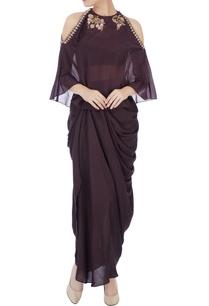 black-dhoti-set-with-burgundy-embellished-cape