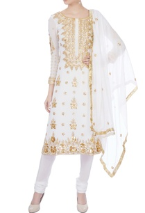 white-gota-work-pearl-kurta-set