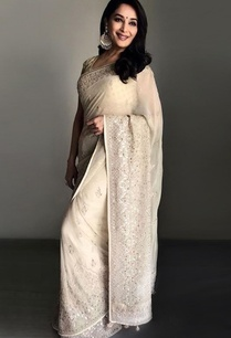 gold-hand-embroidered-georgette-sari-with-blouse