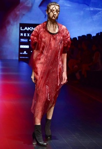 red-black-organza-chanderi-tie-dye-dress
