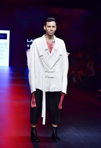 white-red-black-linen-chanderi-jacket-with-t-shirt-shirt-trousers
