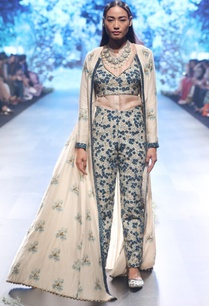 beige-blue-chanderi-raw-silk-organza-thread-sequin-work-pants-with-jacket-and-shirt
