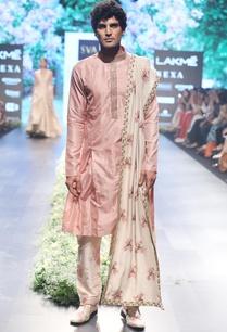 old-rose-beige-raw-silk-silk-ari-patti-work-kurta-set-with-dupatta