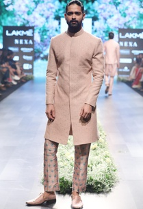 old-rose-raw-silk-thred-sequin-sherwani-set