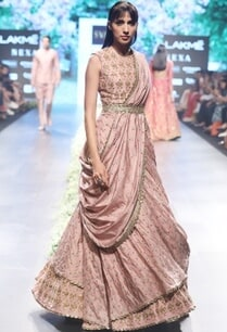 old-rose-raw-silk-silk-printed-lehenga-set-with-tea-green-belt