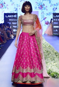 magenta-raw-silk-lehenga-set