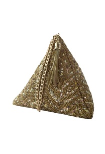 gold-sequin-chevron-triangle-clutch