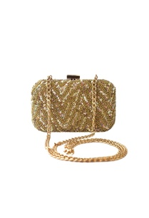 gold-sequin-embellished-clutch-with-long-chain