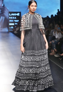black-flared-anarkali-with-cape