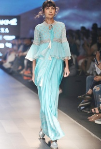 blue-sari-with-bustier-front-open-jacket