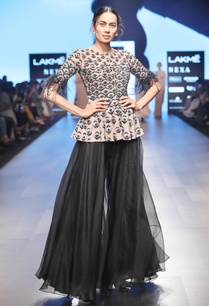 black-tassel-peplum-blouse-with-sharara-pants