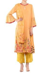 orange-cotton-shantoon-embroidered-kurta-set
