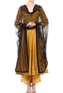 mustard-cotton-net-anarkali-kurta-with-palazzo-pants