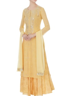 mango-yellow-chiffon-hand-embroidery-kurta-skirt-and-dupatta