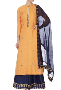 mango-yellow-cotton-silk-embroidered-kurta-skirt-dupatta