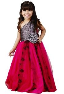 pink-georgette-embellished-gown