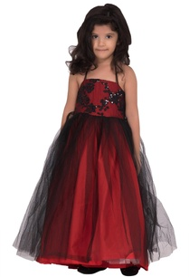 burgundy-red-georgette-embellished-gown