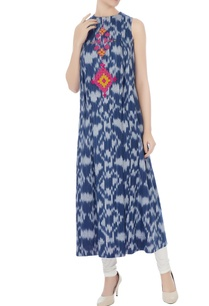 blue-ikat-cotton-kurta