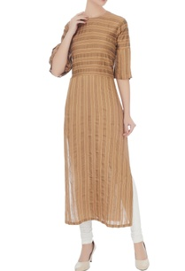 brown-self-woven-striped-brown-tunic