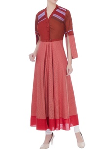 maroon-south-cotton-elbow-slit-kurta