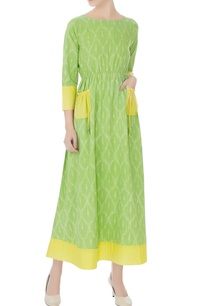 yellow-green-maxi-dress