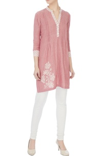 red-striped-hand-block-printed-tunic