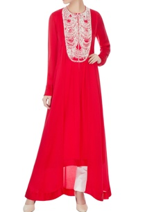 red-satin-crepe-embroidered-tunic