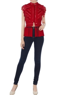 red-mirror-embroidered-short-jacket
