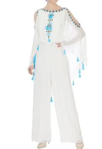 white-cold-shoulder-georgette-jumpsuit