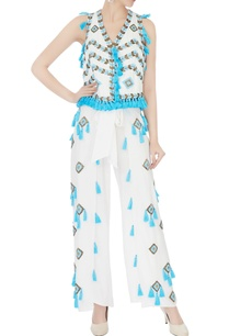 white-tassel-bead-hand-embroidered-palazzos