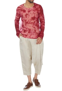 red-tie-and-dyed-chanderi-t-shirt